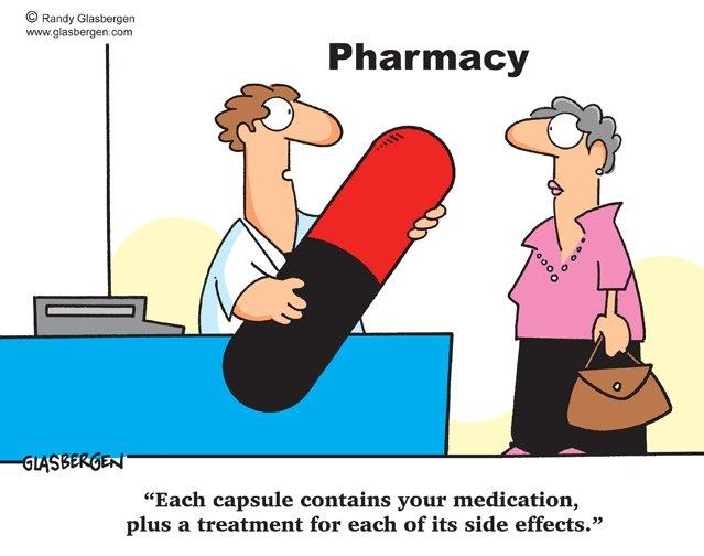 Cartoon About Side Effects of Medications